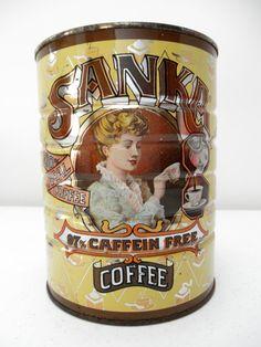 1981 Reproduction Victorian Sanka Coffee Can