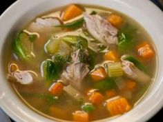 Left Over Turkey Soup (great for all phases) Ingredients: 2 quarts low sodium chicken broth 1 turkey carcass, all meat removed 1 onion, halved, plus 1 onion, minced (phase 4 only) 1 carrot, halved lengthwise, plus 1 carrot, minced (phase 4 only) 1 whole stalk celery, plus 1 more stalk, minced 2 bay