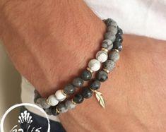 Pulsera de Onyx  de piedras preciosas pulsera  joyas por Galismens