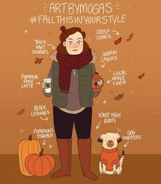 The perfect fall style autumnday Autumn Cozy, Autumn Art, Autumn Aesthetic, Happy Fall Y'all, Autumn Inspiration, Autumn Ideas, Hello Autumn, Illustrations, Fall Season