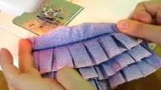 How to make doll outfits 13 Ruffle dress, via YouTube.