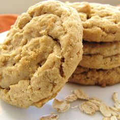Oatmeal Peanut Butter Cookies | A nice change of pace from the usual peanut butter cookie.