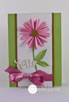Anni-Karten: Dynamic Duos # Certainly Celery & Pretty in Pink {Mattgrün… Flower Cards, Paper Flowers, Pretty In Pink, Beautiful Handmade Cards, Mothers Day Crafts, Get Well Cards, Handmade Birthday Cards, Cute Cards, Creative Cards