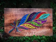 Feather string art !!
