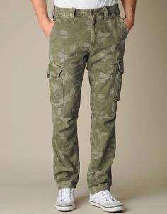 Mens Platoon Camo Pant - (Zd Trooper Green) | True Religion Brand Jeans