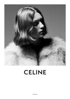 campaign photography Celine S/S 2019 Campaign (Cel - Ysl, Celine Campaign, Fashion Typography, Shot Hair Styles, Campaign Fashion, Hedi Slimane, Fashion Advertising, Branding, Lettering
