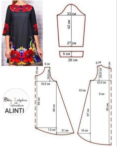 Amazing Sewing Patterns Clone Your Clothes Ideas. Enchanting Sewing Patterns Clone Your Clothes Ideas. Dress Sewing Patterns, Sewing Patterns Free, Free Sewing, Clothing Patterns, Embroidery Patterns, Hand Embroidery, Stitch Patterns, Sewing Hacks, Sewing Tutorials