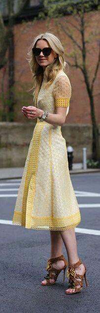 That dress is like lemon meringue