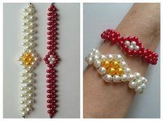 DIY beaded bracelet tutorial. Make this flower bracelet for spring! - YouTube