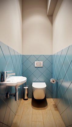 toilet in its own room - Gäste wc - Toilet Bathroom Design Small, Simple Bathroom, Bathroom Interior Design, Modern Bathroom, Small Toilet Design, Toilet Tiles Design, Master Bathroom, Cool Bathroom Ideas, Small Bathroom Tiles