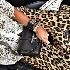 Animal print and lace