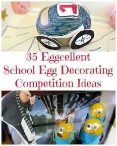 35 School Egg Decorating Competition - a fantastic selection of egg decorating competition entries. See the winning designs and be inspired! decoration School Egg Decorating Competition Ideas & Tips Easter Activities, Easter Crafts For Kids, Activities For Kids, Easter Ideas, Easter Recipes, Children Crafts, Spring Activities, Easter Egg Competition Ideas, Easter Egg Designs