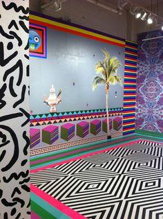 Dominique Pétrin's Colourful  Trippy Interior Installations.