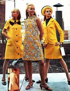 Yellow styles in J.C. Penneys catalog, spring/summer 1968.