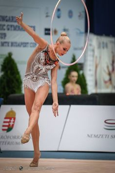 Yana Kudryavtseva (Russia) won gold medal in hoop finals at World Cup (Budapest) 2015