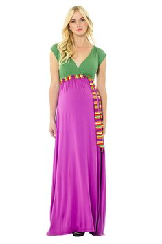 Lilac Jill Maternity And Nursing Maxi Dress | Nursing Apparel www.duematernity.com