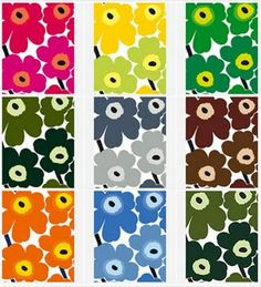I have always loved this iconic Unikko fabric by Marimekko but only recently researched it as part of my studies. It was designed in 1964 b. Textile Patterns, Textile Design, Fabric Design, Pattern Design, Print Patterns, Floral Patterns, Marimekko Wallpaper, Marimekko Fabric, Cornhole Designs