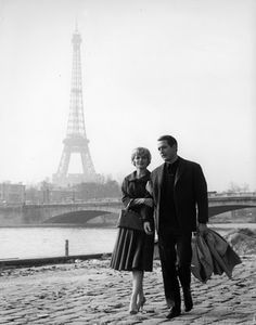 Paul Newman and Joanne Woodward in Paris.