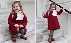 Princess Charlotte's first day at nursery school has been marked by the release of two pictures taken by her proud mother, the Duchess of Cambridge.