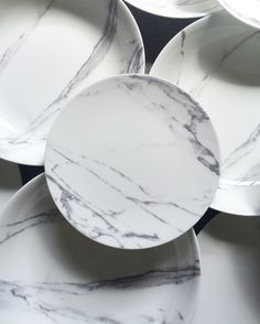 the ARK collection - Carrara Marble Dinner Plates / Salads / Large Low Bowls. Kitchen Items, Kitchen Decor, Home Design Decor, House Design, Terracotta, Granite, Pop Up Dinner, Marble Plates, House Built