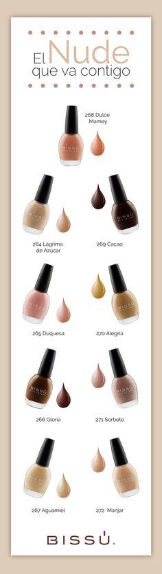 Conoce mis esmaltes Delicia, hay uno para cada tono de piel. http://tiendaweb.bissu.com/esmaltes-15ml/203-delicia-15ml.html