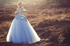Blue Ball Gown by Jolien-Rosanne.deviantart.com on @deviantART