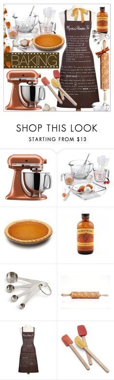 """""""Let's Get Baking! Pumpkin Pie!"""" by calamity-jane-always ❤ liked on Polyvore featuring interior, interiors, interior design, home, home decor, interior decorating, KitchenAid, Anchor Hocking, Martha Stewart and Crate and Barrel"""