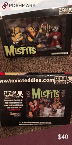 Toxic teddies misfit 666 edition Super cool collectors item for misfits! Teddies that represent the misfits. Never been opened and the box is in fair shape. Other