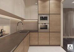 Kitchen Room Design, Kitchen Cabinet Design, Modern Kitchen Design, Home Decor Kitchen, Interior Design Kitchen, Modern Kitchen Interiors, Modern Kitchen Cabinets, Kitchen Wood, Küchen Design