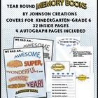 This kit can be used year round or at the end of the school year. There are color and gray scale memory book covers for Kindergarten through Sixth ...