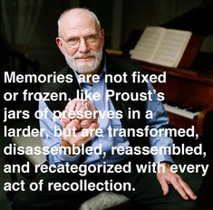 A fascinating meditation on the shortcomings of memory, necessary for the creative mind, by neurologist Oliver Sacks.