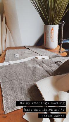 Rainy evening making in Ireland | Rainy day aesthetic | sewing craft design room inspo | retro vintage feels Norah Jones, Design Room, Home Studio, Design Crafts, Bag Making, Retro Vintage, Ireland, Meditation, Feels