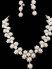Ivrory+Pearl+Crystal+Jewelry+Set(Necklace+Earrings)+–+USD+$+14.00