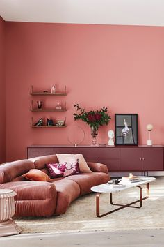 Dulux Colour Forecast 2019 creating your happy place Wall Painting Living Room, Paint Colors For Living Room, Living Room Decor, Bedroom Decor, Pink Bedroom Walls, Bedroom Wall Colors, Pink Room, Deco Rose, Colourful Living Room