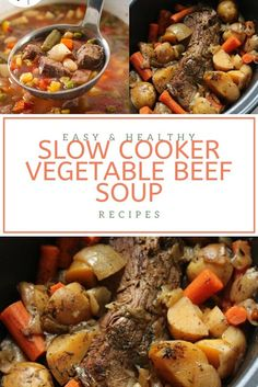 Find easy-to-make comfort food recipes like Healty recipes, dinner recipes and more recipes to make your fantastic food today. Beef Soup Slow Cooker, Healthy Slow Cooker, Dinner Ideas, Dinner Recipes, Beef Soup Recipes, Mixed Vegetables, Tasty Dishes, Healthy Drinks, Food To Make
