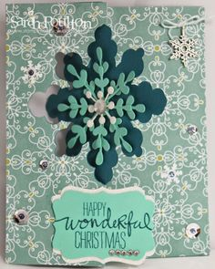 Stampin' Sarah!: Snowflake Card Thinlit Die from Stampin' Up!: An All is Calm Christmas