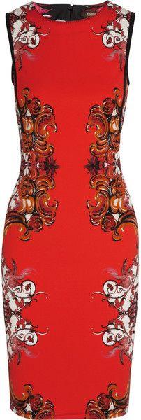 Printed Stretchcrepe Dress - Roberto Cavalli