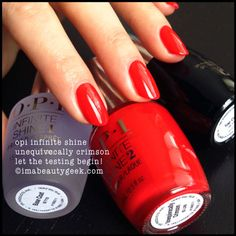 opi infinite shine: unequivocally crimson