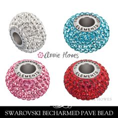 New to AnnieHowes on Etsy: Swarovski BeCharmed Pave Crystal Beads with Stainless Steel core. Sold as single from Annie Howes. 80101 (12.95 USD)
