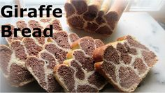 Giraffe Bread Recipe A fun bread to slice.  Most children love it. Perfect for a children Jungle themed party.  Easy to make with only one rise in an hour. ♥ Ingredients ♥ : 3 cups flour, 1 cup milk at 110F, 1 extra large egg,  2 tbsp. olive oil, 1/2 tsp salt, 1/8 cup sugar, 1 pkg. dry yeast