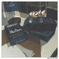 ☠️Someday cigarettes will ruin me☠️ dead dead dead Aesthetic Images, Retro Aesthetic, Aesthetic Anime, Aesthetic Wallpapers, Aesthetic Food, Old Anime, Anime Art, Animes Wallpapers, Cute Wallpapers