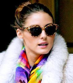 @Who What Wear - Cat-Eye                 Looks Best With: Heart-shaped faces (broad forehead, smaller chin, distinguished cheekbones).    Pictured: Olivia Palermo stepped out in Wunderkind Cat's Eye Sunglasses in Brooklyn last month.