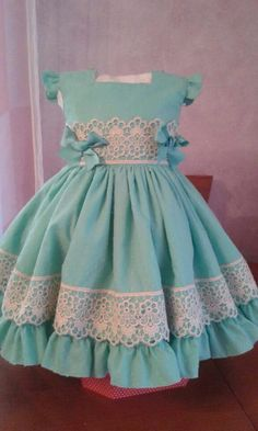 Clothes Dresses Girl Dolls 32 Ideas For 2019 Girls Dresses Sewing, Little Girl Outfits, Little Girl Dresses, Kids Outfits, Flower Girl Dresses, Girl Doll Clothes, Girl Dolls, Baby Dress Patterns, Kids Frocks