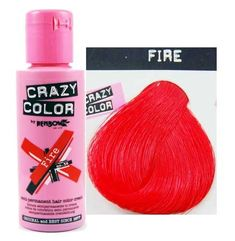 Crazy Colour Semi Permanent Hair Dye By Renbow Fire No.56 (100ml) Box of 4 -- Click on the image for additional details.