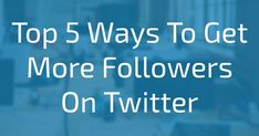 In this article i have talked about how to get more real,authentic followers quickly on twitter.I have shared 5 tips from my personal experience.This article will help people to more followers and grow their twitter accounts.If people follow this real techniques,they will receive followers so quickly.