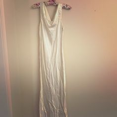 Vintage Satin wedding/Prom dress Super cute for that small intimate vintage wedding.. Very comfy and flowy. Size says 12 but it's very vintage and I would say it fits more of a 6/8.... So pretty. Stain at bottom that is pictured. Last pic is for inspiration. My dress is more relaxed fit and doesn't have a train or poof at bottom. Could be prom as well Vintage Dresses Prom