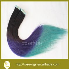 Hot Sale 6A Unprocessed Brazilian Virgin tape hair Brazilian Virgin Hair straight ombre color Human Hair