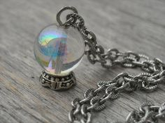 Fortune Teller Crystal Ball Necklace by InkandRoses13
