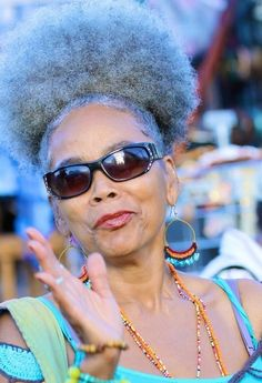 ...rockin the puff even after grey (this will be me!) FAB!