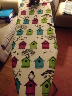Newly covered ironing board